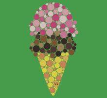 * ICE CREAM Berry/Chocolate  One Piece - Short Sleeve