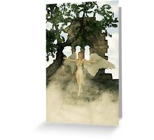Angel and The Sacred Ruins Greeting Card