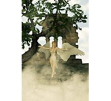 Angel and The Sacred Ruins Photographic Print