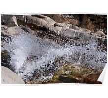 Water flowing over granite Poster