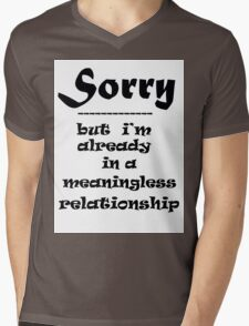 SORRY Mens V-Neck T-Shirt