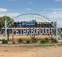 Peterborough welcome sign Sth Australia by Heather Dart