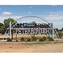 Peterborough welcome sign Sth Australia Photographic Print