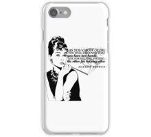 Audrey Hepburn | Helping Others iPhone Case/Skin