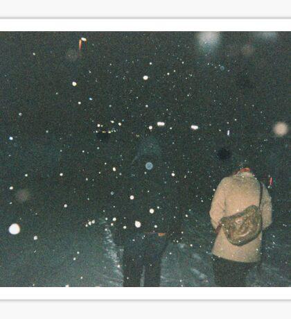 Snow Walks Sticker