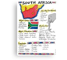 South Africa - A Poster Metal Print