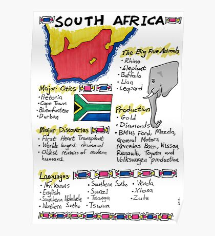 South Africa - A Poster Poster