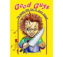 chucky- childs play Photographic Print