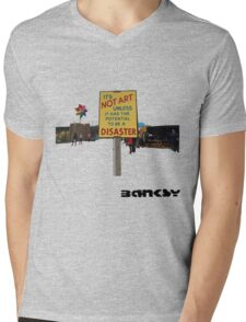 Banksy Mens V-Neck T-Shirt