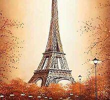 Eiffel Tower Paris France by Elizabeth Coats