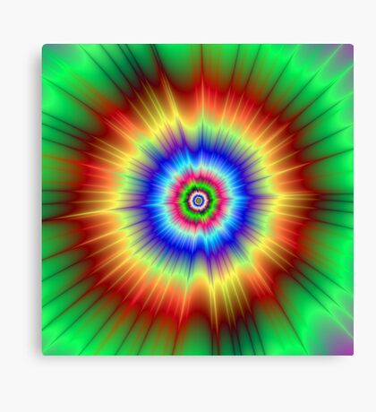 Orange and Green Color Explosion Canvas Print