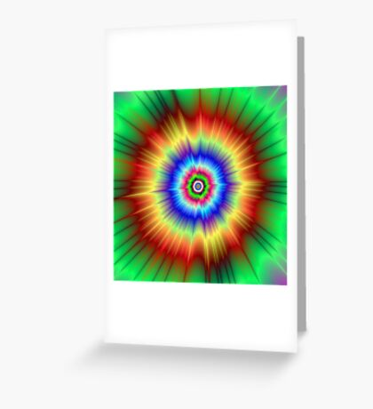 Orange and Green Color Explosion Greeting Card