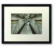 The Tunnels of Time Framed Print