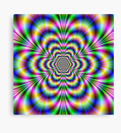 Psychedelic Hexagon Canvas Print