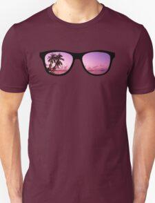 Hipster Beach Scene in the Sunset T-Shirt