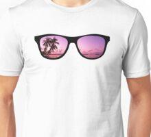 Hipster Beach Scene in the Sunset Unisex T-Shirt