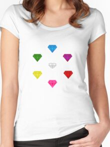 Sonic The Hedgehog Chaos Emeralds Women's Fitted Scoop T-Shirt