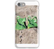 Flip Flops in Sand iPhone Case/Skin