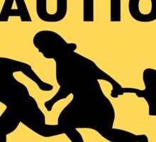 Running Family / Running Immigrants Sign Sticker