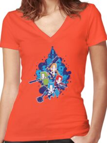Crashers Women's Fitted V-Neck T-Shirt
