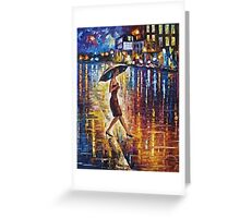 Woman With Umbrella Painting Greeting Card