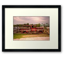 Antique pickup truck at Blue Mountain 2 Framed Print