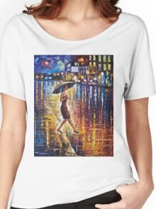 Woman With Umbrella Painting Women's Relaxed Fit T-Shirt