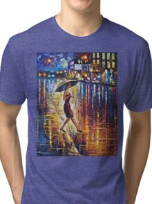 Woman With Umbrella Painting Tri-blend T-Shirt