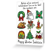 Winter Solstice Relics Greeting Card
