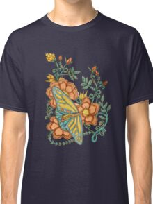 Spring Butterflies Roses and Vines Classic T-Shirt