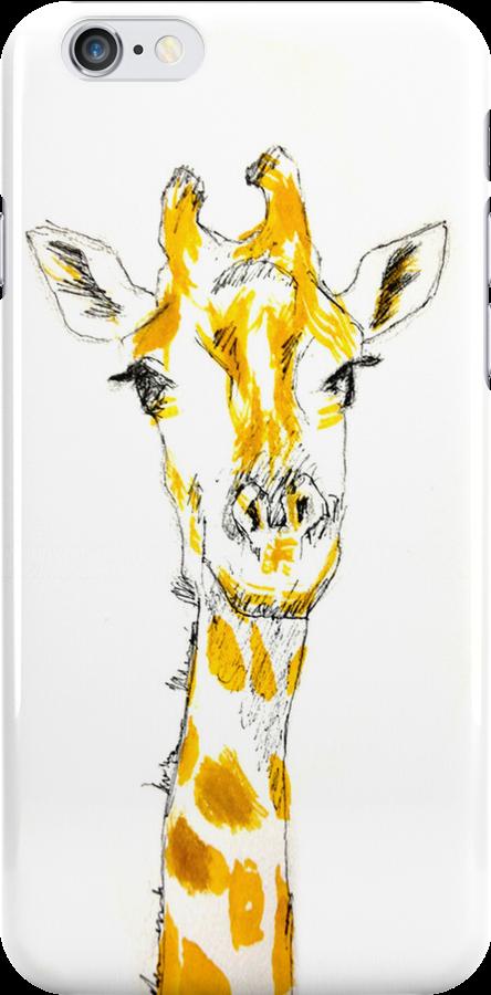 Giraffe iPhone Case by sydneyhafner