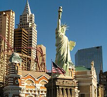 New York New York Casino Las Vegas Nevada by Edward Fielding