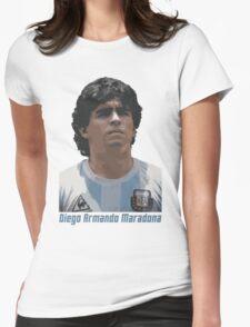 Diego Armando Maradona Womens Fitted T-Shirt