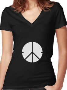 Universal Unbranding - Peace and War Women's Fitted V-Neck T-Shirt
