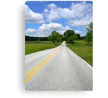 Infinite Road Canvas Print