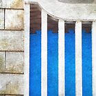 Blue Stripes On The Porch by Fay270