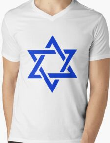 Star of David Mens V-Neck T-Shirt