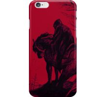 Night Rider - red iPhone Case/Skin