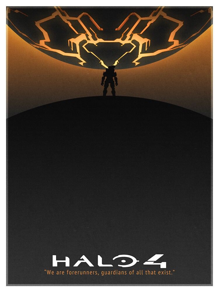 Halo 4 Poster (White Border) by taylderp