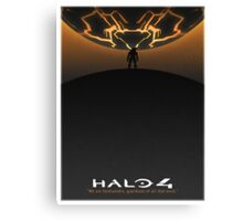 Halo 4 Poster (White Border) Canvas Print