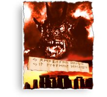 Curse of the Demon Canvas Print