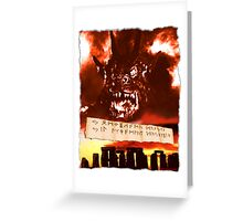 Curse of the Demon Greeting Card