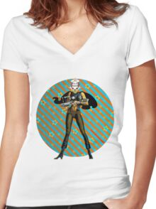 Zap Chic Women's Fitted V-Neck T-Shirt