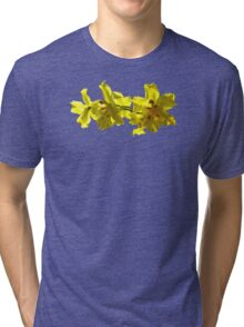 Backlit Yellow Orchids Tri-blend T-Shirt