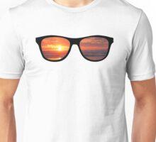Hipster Beach Sunset Scene Unisex T-Shirt
