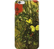 Van Gogh- Poppies and Butterflies iPhone Case/Skin