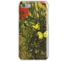 Van Gogh- Poppies and Butterflies iPhone Case/Skin