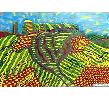 378 - MOUNTAIN ABSTRACT - DAVE EDWARDS - COLOURED PENCILS - 2013 Photographic Print