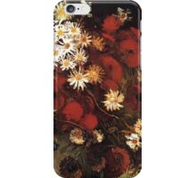 Van Gogh- Vase With Poppies, Cornflowers, Peonies, and Crysanthemums iPhone Case/Skin
