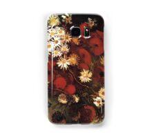 Van Gogh- Vase With Poppies, Cornflowers, Peonies, and Crysanthemums Samsung Galaxy Case/Skin